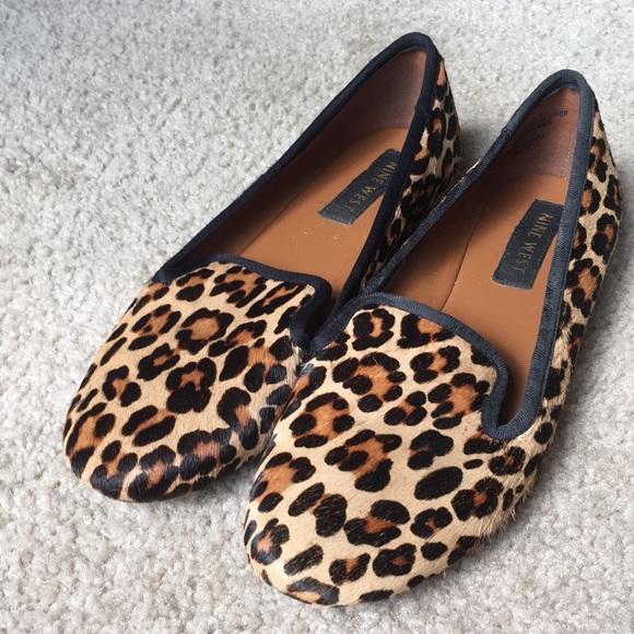Shoes   Nine West Leopard Flats Size